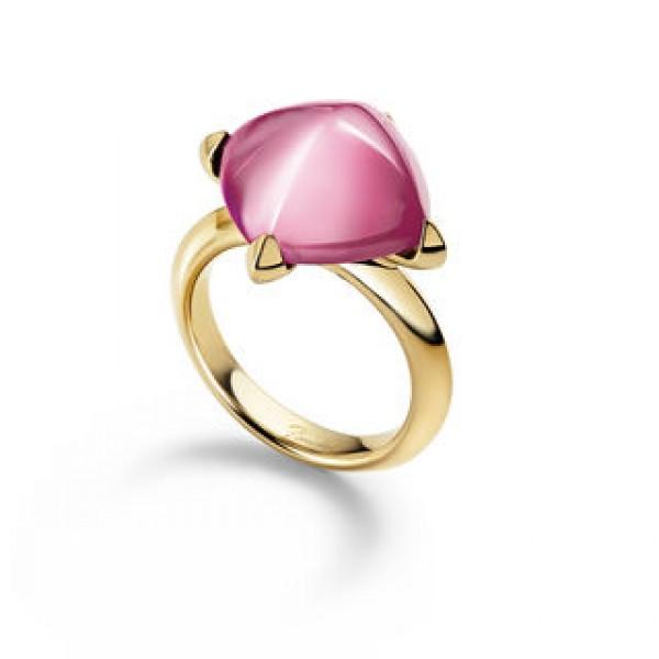 Baccarat Medicis Light Pink Mirror Ring, Vermeil