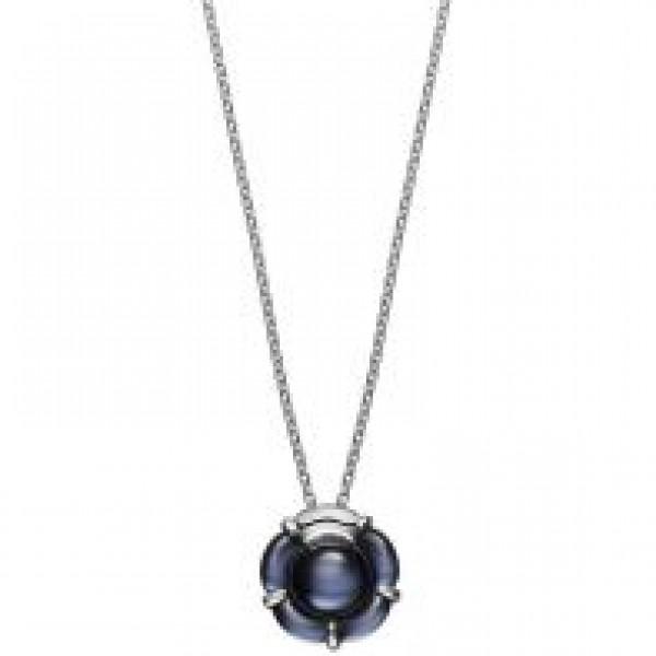 Baccarat B Flower Necklace Black