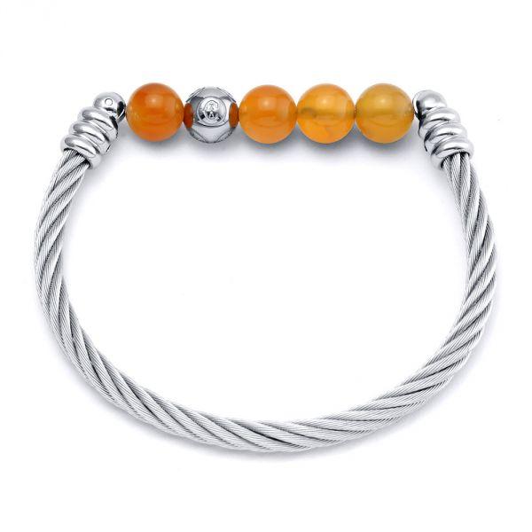 Charriol Calypso Chalcedony Orange Bangle