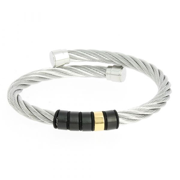 Charriol Celtic Bangle Black and Gold