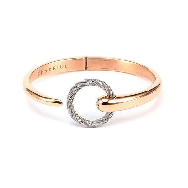 Charriol Infinite Zen Bangle Steel Rose Gold Grey PVD