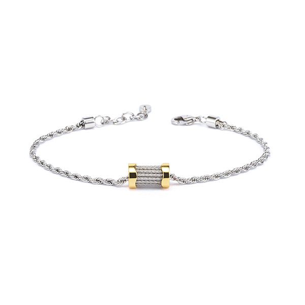 Charriol Bracelet Forever Waves Charms Yellow Gold PVD