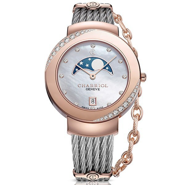 Charriol St-Tropez Moonphase Woman Watch 35mm