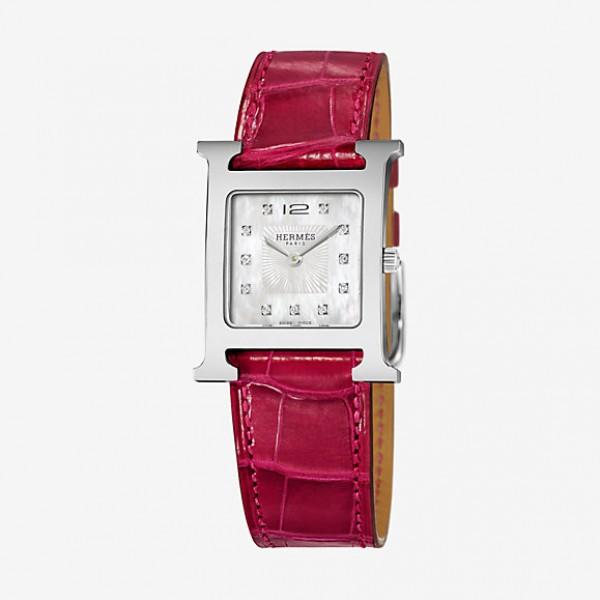 Hermes H Heure watch, 26 x 26 mm QTZ