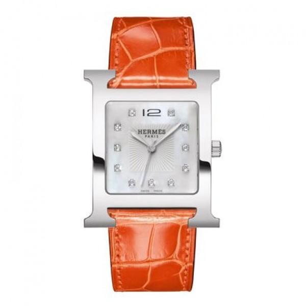 Hermes H Hour TGM  watch, 30.5 x 30.5 mm QTZ