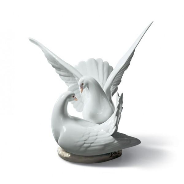 Lladro Love Nest Doves