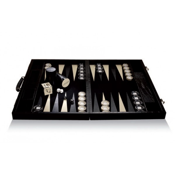 Lalique Crystal Masque De Femme Backgammon
