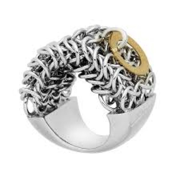 Pianegonda Silver and Gold Ring