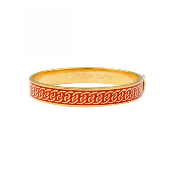 Halcyon Days Byzantine Red and Gold Bangle