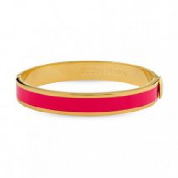 Halcyon Days Plain Hot Pink and Gold Bangle