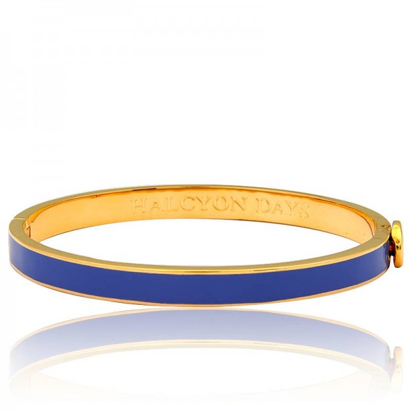Halcyon Days Skinny Plain Cobalt Bangle