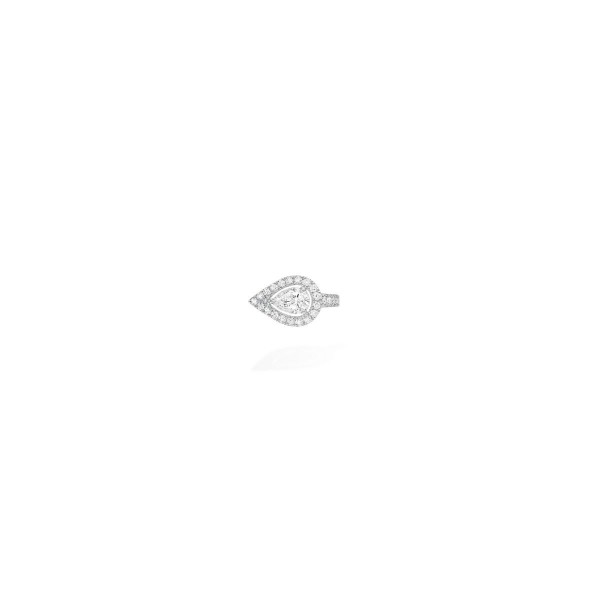 Messika My Twin Top Mono Clip Earring - White Gold