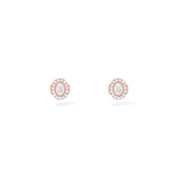 Messika Glam'Azon Stud Earrings Pink Gold