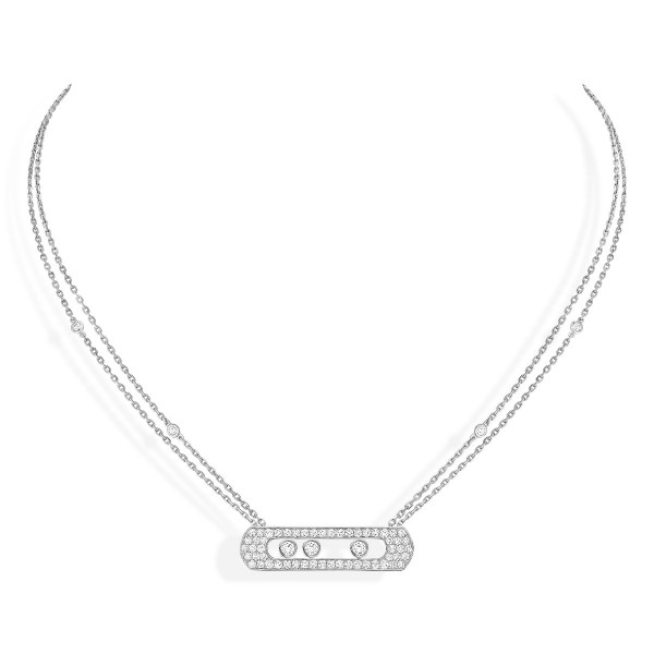 Messika Joaillerie Pave Necklace