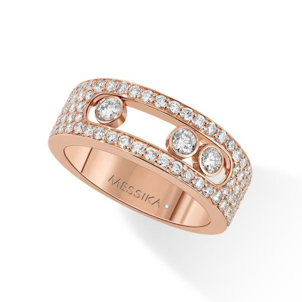 Messika Move Pave Ring -Small Pink Gold