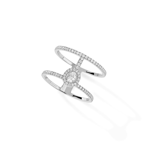 Messika Glam'Azone 2 Rows Pave Ring