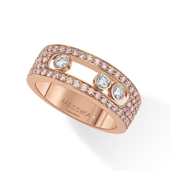 Messika Move Joaillerie Pave Pink Diamonds S Ring