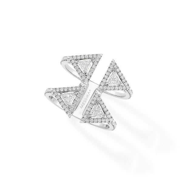 Messika Thea 2 Rows Ring White Gold