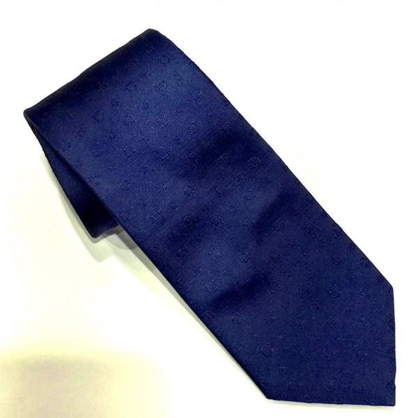 Salvatore Ferragamo -  Blue Silk Gancini Design Tie