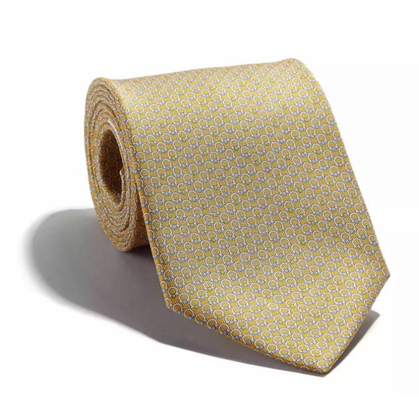 Salvatore Ferragamo -  Yellow Silk Tie