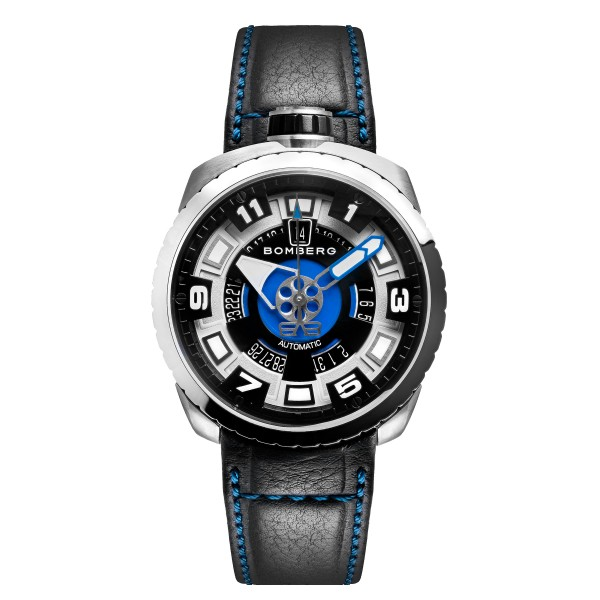 Bomberg Bolt 68 Automatic Steel and Blue Sapphire 45mm