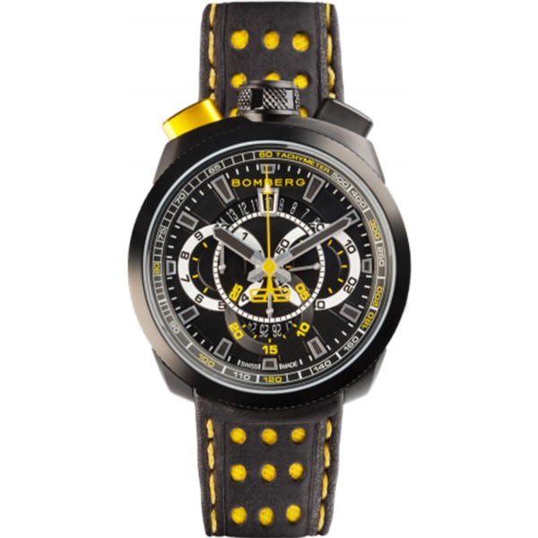 Bomberg Bolt 68 Chronograph Black and Yellow